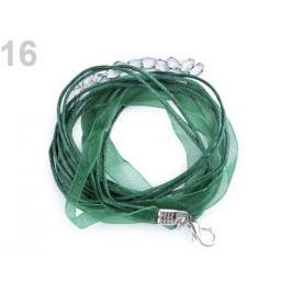 Viacradová šnúrka s karabínkou dĺžka 46 cm zelená tm. 1ks Stoklasa