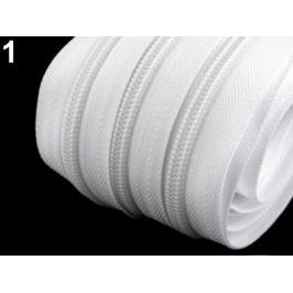 Zips špirálový šírka 7 mm metráž White 1m Stoklasa