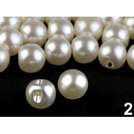 Perla k našitiu / gombík Ø10 mm perleťová 20ks Stoklasa