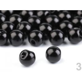 Perla k našitiu / gombík Ø9 mm čierna 20ks Stoklasa