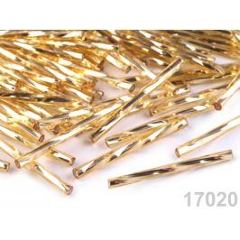 Rokajl Preciosa točené tyčky  30 mm zlatá svetlá 20g