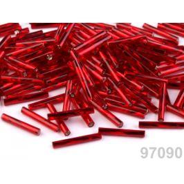 Rokajl Preciosa točené tyčky 15 mm červená  20g
