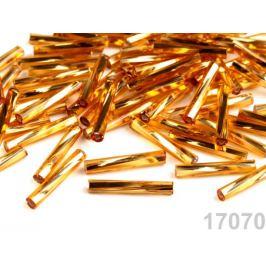 Rokajl Preciosa točené tyčky 15 mm zlatá 20g