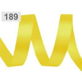 Atlasová stuha šírka 10 mm žltá narcisová 22.5m Stoklasa