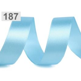 Atlasová stuha šírka 20 mm modrá azuro 22.5m Stoklasa