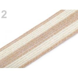 Jutová stuha dvojfarebná šírka 25 mm režná svetlá 10m Stoklasa