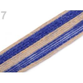 Jutová stuha dvojfarebná šírka 25 mm modrá safírová 10m Stoklasa