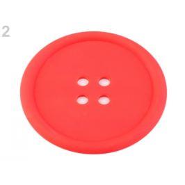 Silikónová podložka gombík Ø9 cm červená sv. 1ks Stoklasa
