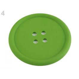 Silikónová podložka gombík Ø9 cm zelená sv. 1ks Stoklasa