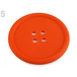 Silikónová podložka gombík Ø9 cm mrkvová 1ks Stoklasa