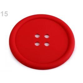 Silikónová podložka gombík Ø9 cm červená 1ks Stoklasa