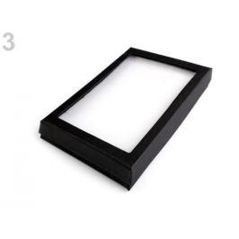 Krabička s priehľadom polstrovaná 12x16 cm čierna 1ks Stoklasa
