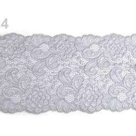 Elastická čipka / vsádka / behúň šírka 15 cm Agate Gray 13.5m Stoklasa