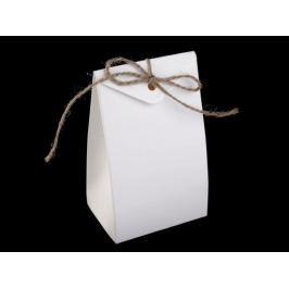 Papierová krabička s motúzikom mliečna 10ks Stoklasa