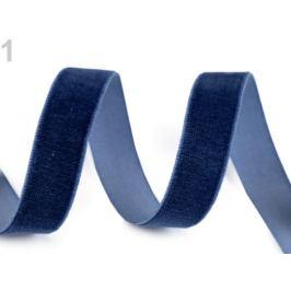 Pružná zamatka šírka 16 mm modrá parížska 5m Stoklasa