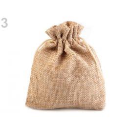Darčekové vrecúško 10x12 cm imitácia juty hnedá piesková 10ks Stoklasa