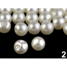 Perla k našitiu / gombík  Ø8 mm perleťová 20ks Stoklasa