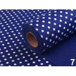 Plsť / filc šírka 41 cm s bodkami modrá námornícka 4.5m Stoklasa