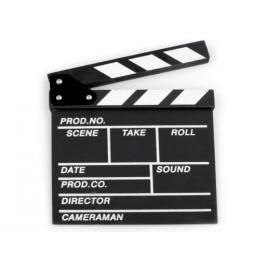 Filmová klapka 20x20 cm čierna 1ks Stoklasa