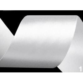 Atlasová stuha zväzky po 3 m šírka 50 mm biela 3m Stoklasa