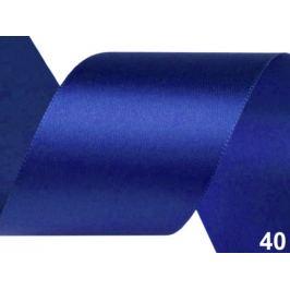 Atlasová stuha zväzky po 3 m šírka 50 mm modrá safírová 3m Stoklasa