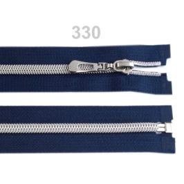 Špirálový zips so striebornými zúbkami šírka 7 mm dĺžka 65 cm Eclipse 1ks Stoklasa
