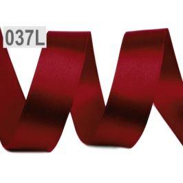 Atlasová stuha zväzky po 5 m šírka 25 mm červená karmínová 5m Stoklasa