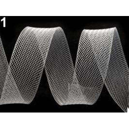 Modistická krinolína na vystuženie šiat a výrobu fascinátorov  šírka 2,5 cm Transparent 1m Stoklasa