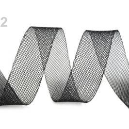 Modistická krinolína na vystuženie šiat a výrobu fascinátorov  šírka 2,5 cm čierna 1m Stoklasa