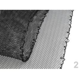 Modistická krinolína na vystuženie šiat a výrobu fascinátorov  šírka 12 cm čierna 10m Stoklasa
