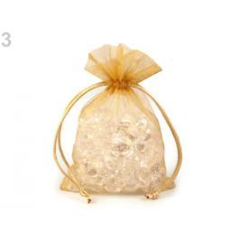 Darčekové vrecúško 10x15 cm organza zlatá 10ks Stoklasa