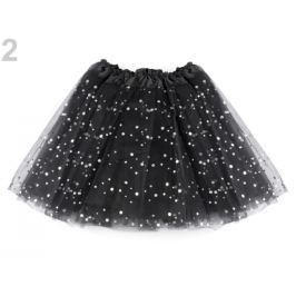 Karnevalová suknička s flitrami čierna 1ks Stoklasa