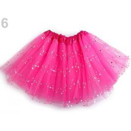 Karnevalová suknička s flitrami ružovofialová 1ks Stoklasa