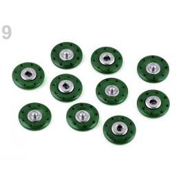 Dizajnové patentky / druky Ø20 mm zelená lesná 5pár Stoklasa