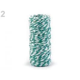 Ozdobná šnúra Ø1,5 mm zelená smaragdová 1ks Stoklasa