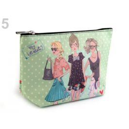 Kozmetická taška / puzdro 13x23 cm s potlačou zelená lipová 1ks Stoklasa