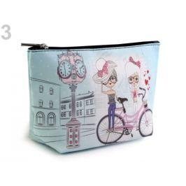 Kozmetická taška / puzdro 13x23 cm s potlačou mentolová 1ks Stoklasa