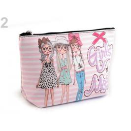 Kozmetická taška / puzdro 13x23 cm s potlačou ružová str. 1ks Stoklasa