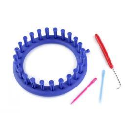 Sada na pletenie kruh Ø14 cm modrá safírová 1sada Stoklasa