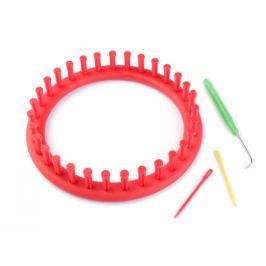 Sada na pletenie kruh Ø19 cm červená 1sada Stoklasa