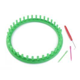 Sada na pletenie kruh Ø24 cm zelená irská 1sada Stoklasa