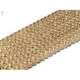 Lesklá guma šírka 50-54 mm zlatá svetlá 5m Stoklasa