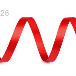 Atlasová stuha obojlíca šírka 10 mm červená 22.5m Stoklasa