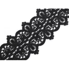 Vyšívaná čipka šírka 82 mm čierna 13.5m Stoklasa