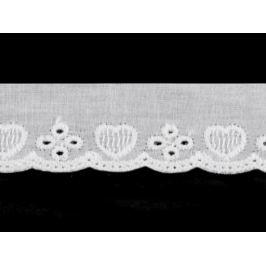 Bavlnená madeira - štykovanie šírka 25 mm biela 12.6m Stoklasa