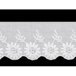 Bavlnená madeira šírka 60 mm biela 13.5m Stoklasa