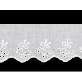 Bavlnená madeira - štykovanie šírka 55 mm biela 13.5m Stoklasa
