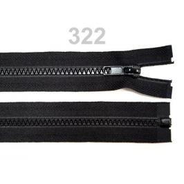 Kostený zips šírka 5mm dĺžka  30 cm bundový čierny Black 25ks Stoklasa