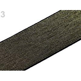 Guma s lurexom šírka 48 mm zlatá 1m Stoklasa