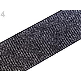 Guma s lurexom šírka 48 mm strieborná 1m Stoklasa